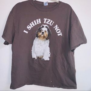 I Shih Tzu Not dog tee xl